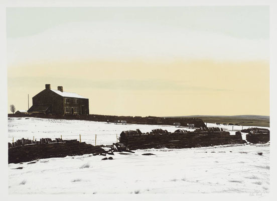 Peter Brook: December, sheep coming in