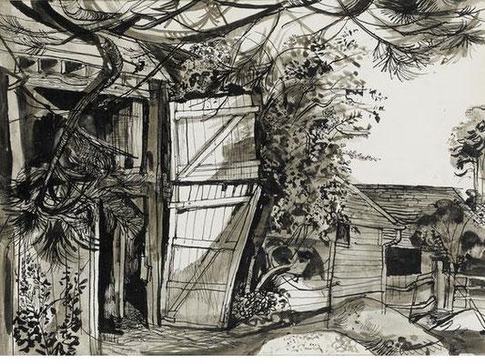 John Minton: Farm Yard