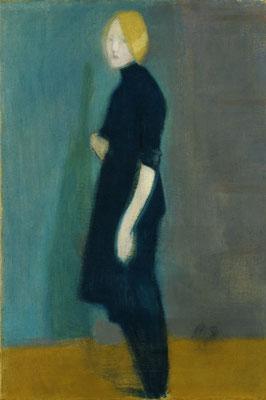 Helene Schjerfbeck: Het meisje van het wandkleed, 1915