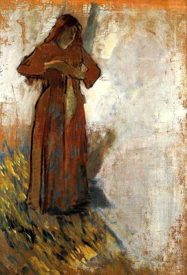 Edgar Degas: woman with loose hair