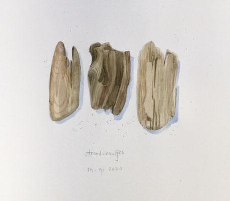 Annette Fienieg: Strand-houtjes 14-9-20