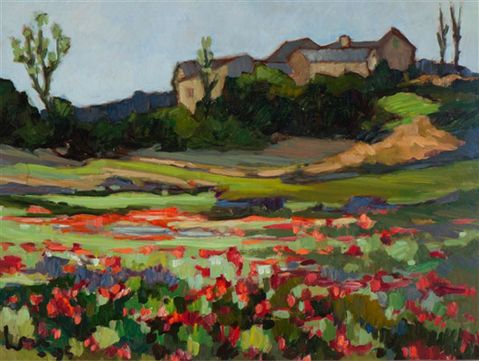 Kees Bol: Poppy field in Rouveret