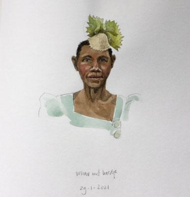 Annette Fienieg: Vrouw met hoedje