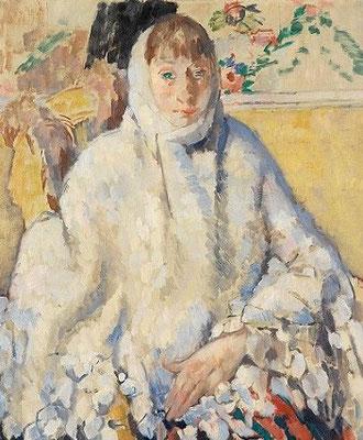 Rik Wouters; De zieke met de witte sjaal, olieverf op doek
