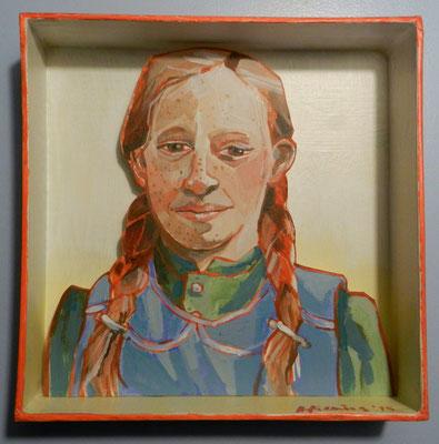 Meisje, acryl op karton 2015