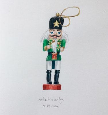 Annette Fienieg: Miniature nutcracker, 4-12-2020