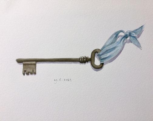 Annette Fienieg: Old key, 30-6-2021
