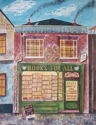 Emily Sutton: Books for all; watercolour