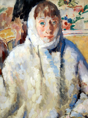 Rik Wouters: Sick woman in white shawl