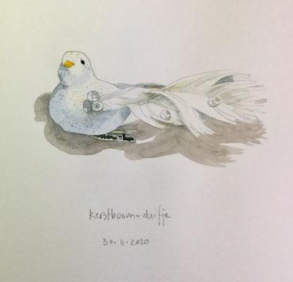 Annette Fienieg: White dove, 30-11-2020