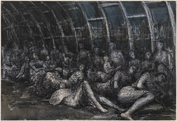 Henry Moore: shelter sleepers