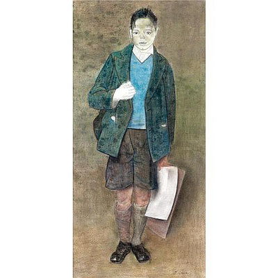 James Cowie: Boy with drawing paper