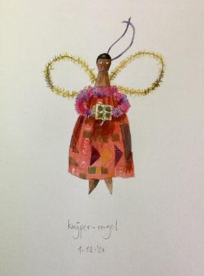 Annette Fienieg: Clothespin angel, 1-12-2020