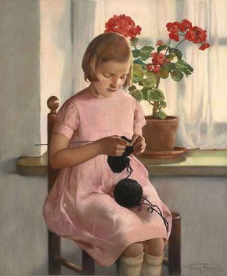 Firmin Baes: La petite tricoteuse