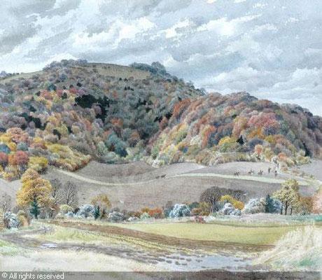 Stanley Roy Badmin: Late autumn, Egg Bottom, Bignor, Sussex