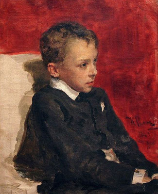 Ilja Repin: Portret van een jongen