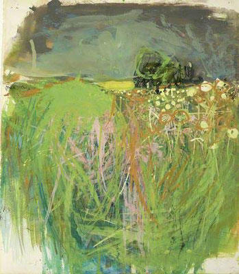 Joan Eardley: Hedgerow with grasses and flowers