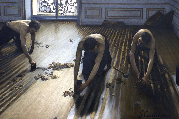 Gustave Caillebotte: de parketschuurders