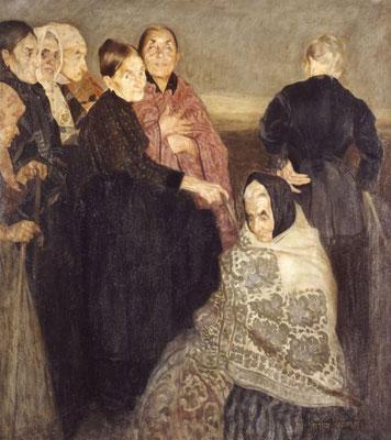 Felice Casorati: De oude vrouwen