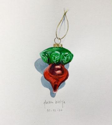 Annette Fienieg: Glass beetroot, 31-12-2020