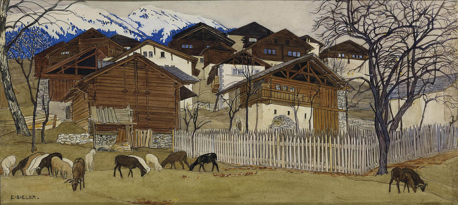 Ernest Biéler: Vue de Savièse