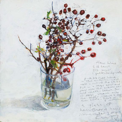Kurt jackson; A glass of hawthorn haws