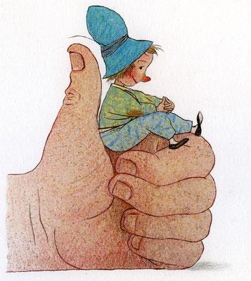 Tilman Michalskiillustratie, klein duimpje