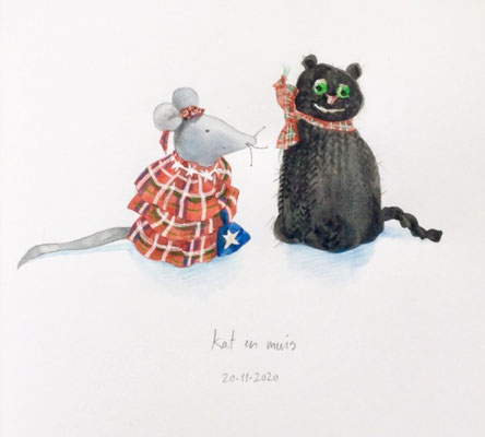Annette Fienieg: Cat and mouse; 20-11-2020