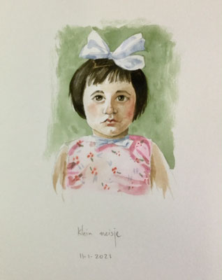 Annette Fienieg: Little girl; 11-01-2021