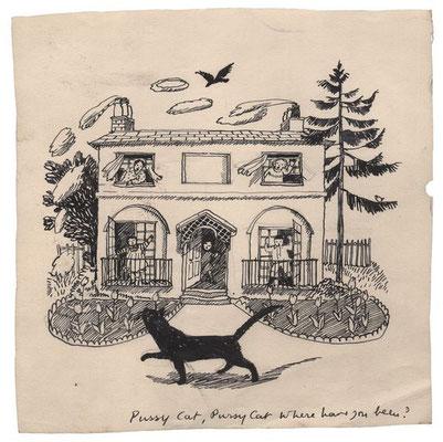 Evelyn Dunbar: Pussy Cat, Pussy Cat