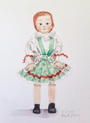 Annette Fienieg: Czech doll, 10-6-2021