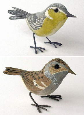 Emily Sutton: Painted fabric birds
