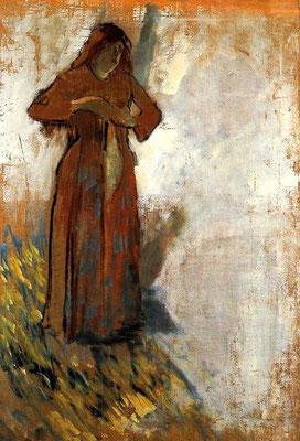 Edgar Degas: vrouw met los haar