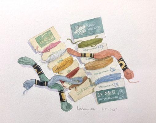Annette Fienieg: Embroidery thread; 6-5-2021
