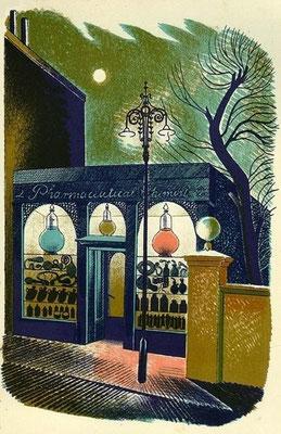 Eric Ravilious: de apotheker, uit Highstreet