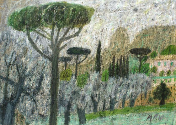 Max Peiffer Watenphul: Landschaft in Kalabrien
