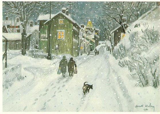 Harald Wiberg: Winter evening