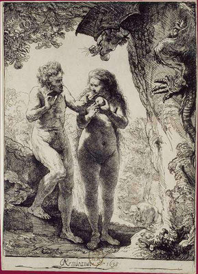 Rembrandt van Rijn: Adam and Eve