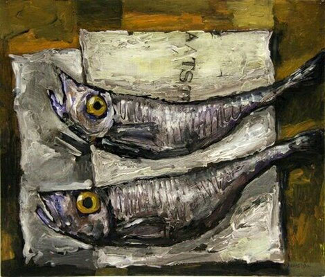 Wim Hofman: fish still life