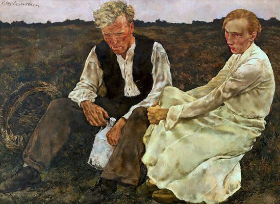 Lotte Laserstein: Pair on the heath