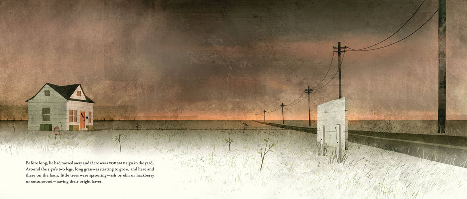 Jon Klassen: house held up by trees