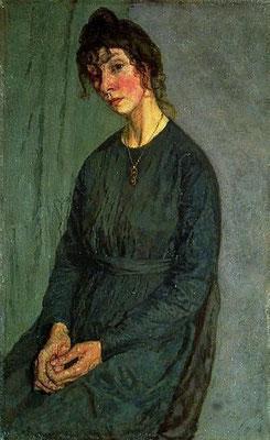Gwen John; portret van Chloe Boughton Leigh