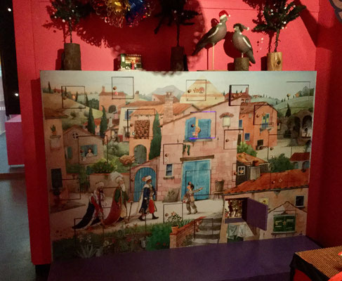 'Advent calendar' I made for the museum