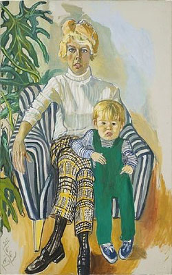 Alice Neel: mrs Gardner and Sam
