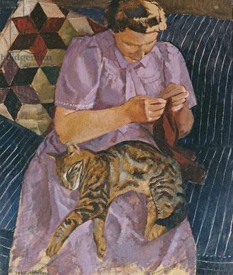 John Aldridge: Lady with a cat
