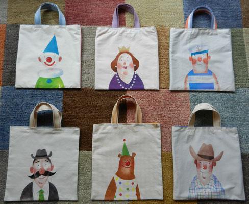 hand-beschilderde tasjes