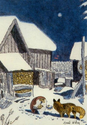 Harald Wiberg: Tomte and fox