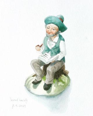 Annette Fienieg: 'Reading' figurine; 7-5-2021