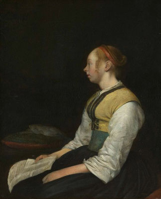 Gerard ter Borch: Young woman in oeasant dress