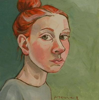 Meisje 1, acryl op mdf 2015